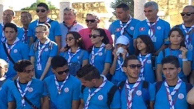El grupo de 'scout' en Medina Azahara