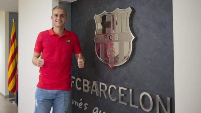 El portero holandés Jasper Cillessen, en las oficinas del FC Barcelona.