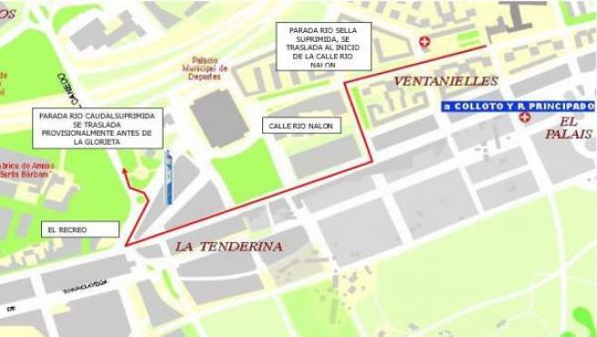 Cortes de tráfico y desvío Línea bus E-2 por la Vuelta Ciclista a España.