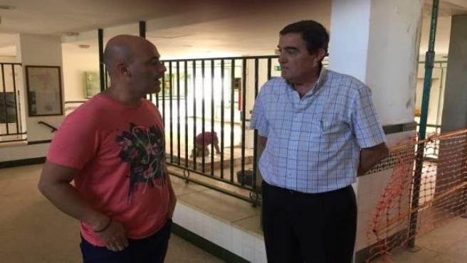 Vicente Zarza visita la residencia de Valverde