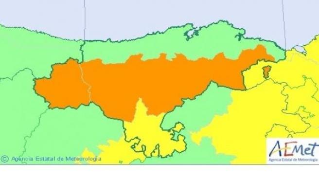 Mapa alerta Cantabria
