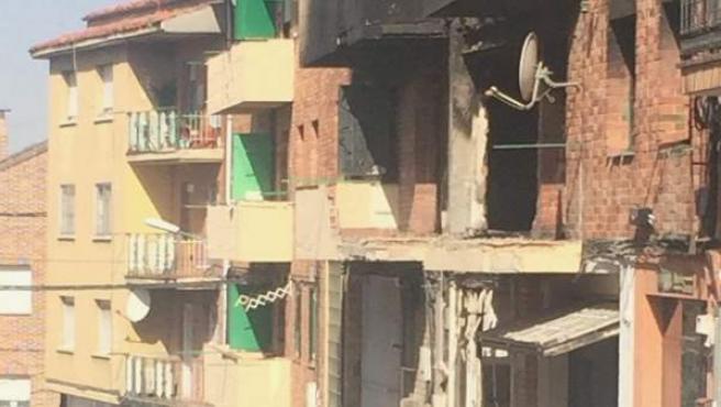 Estado de los edificios afectados por la explosión y el incendio