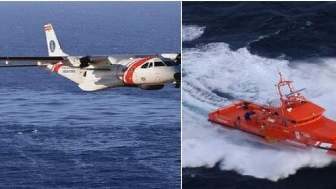 El avión Sasemar 101 y Guardamar Polimnia han localizado una patera a 13 millas al SSE de Cabo de Gata y han rescatado a 15 de los 43 inmigrantes que este fin de semana han llegado al mar de Alborán.