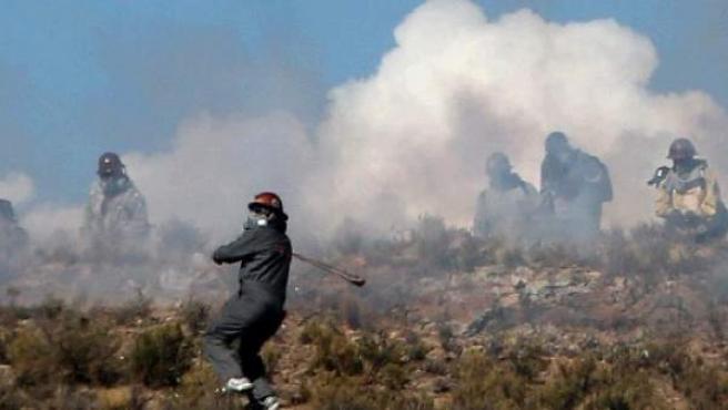 Protestas de mineros en Bolivia, el 25 de agosto de 2016, que acabaron con la muerte de un viceministro y mas de 100 detenidos.