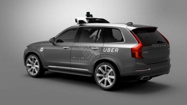 El XC90 de Volvo que Uber utiliza para desarrollar su coche autónomo.