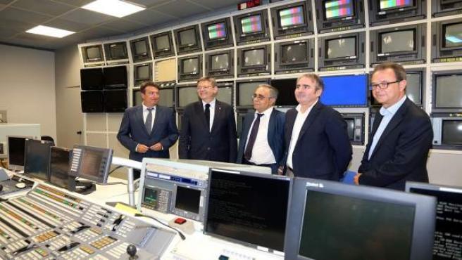 Puig en las instalaciones de RTVV
