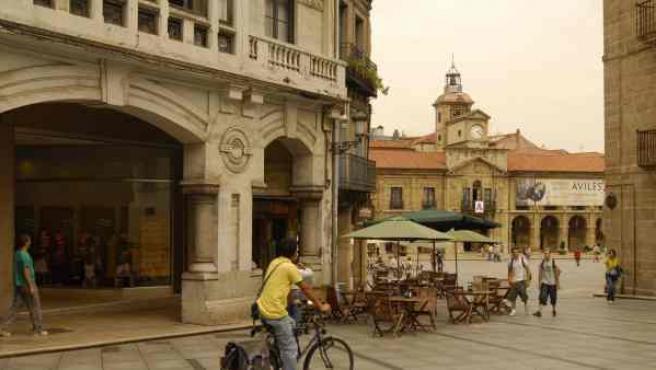Imagen del centro de la ciudad asturiana de Avilés.