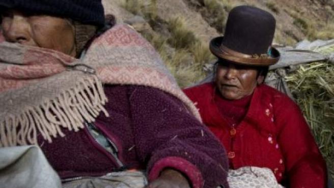 Mujeres peruanas de la región de Puno.