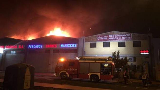 Incendio en Las Chafiras