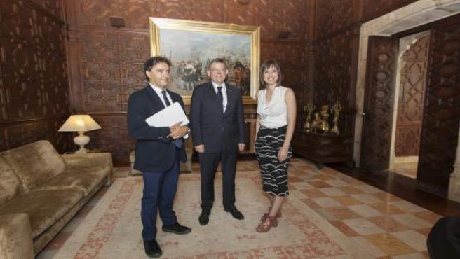 Ximo Puig se reúne con la alcaldesa de Gandia, Diana Morant