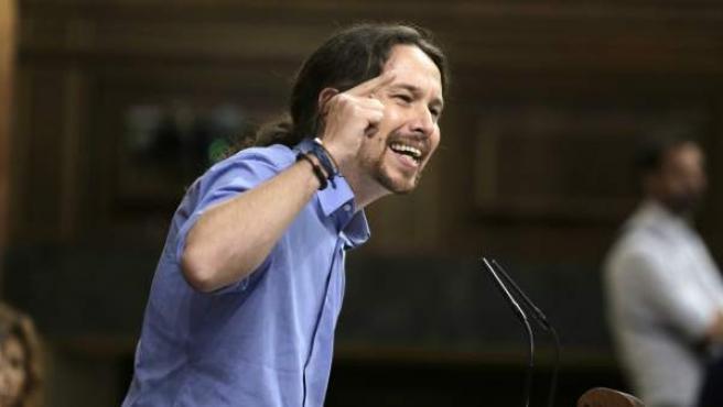 Pablo Iglesias, en el debate de investidura