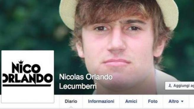 En la imagen, perfil de Facebook del español que ha sembrado el terror en las calles de Milán.