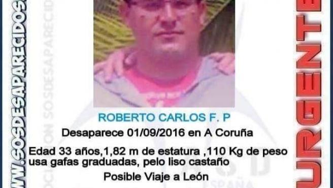 El joven desaparecido en A Coruña Roberto Carlos F.P.