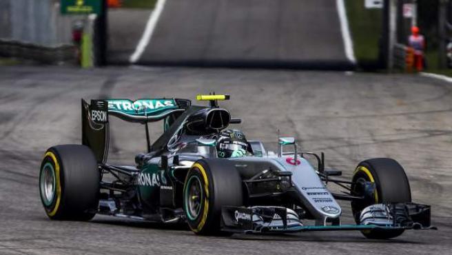 El piloto alemán Nico Rosberg, en el GP de Italia de Fórmula 1.