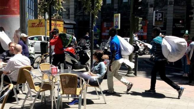 Manteros en Madrid.