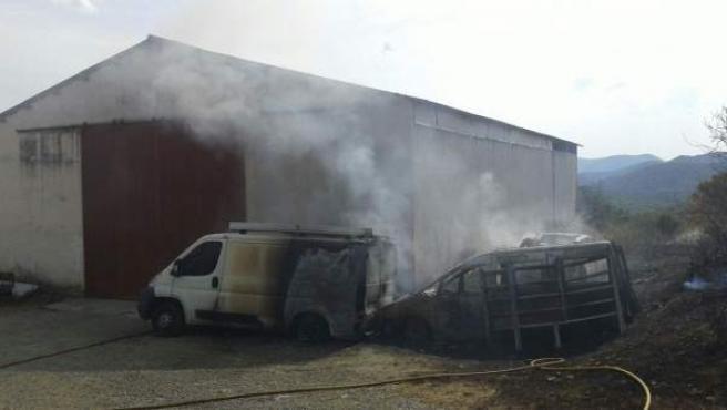 Incendio en Egozkue.