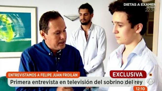 Imagen de la primera entrevista a Froilán, en 'Espejo Público'.