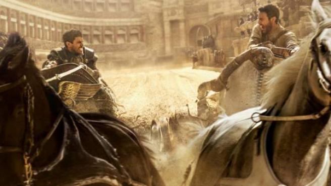 Una escena de la famosa carrera de cuadrigas de 'Ben-Hur' versión 2016