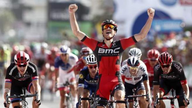 Jean Pierre Drucker se impone en el sprint de la 16ª etapa de la Vuelta a España.
