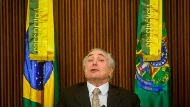 Michel Temer, en la jornada de impeachment de la presidenta Dilma Rousseff, el 31 de julio de 2016.