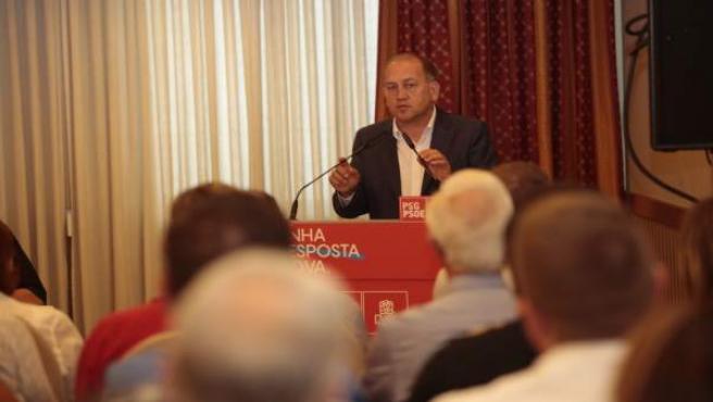 El candidato del PSdeG a la Presidencia de la Xunta, Xoaquín Fernández Leiceaga