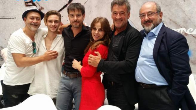 Parte del elenco de Águila Roja, presente en la despedida de la serie en el FesTVal de Vitoria.