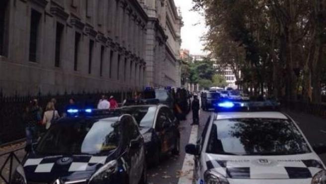 Coches de la Policía municipal de Madrid.