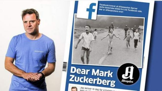 El director editorial de Aftenposten, Espen Egil Hansen, publicó una carta contra Mark Zuckerber.