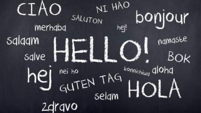 Saludos en distintas lenguas.