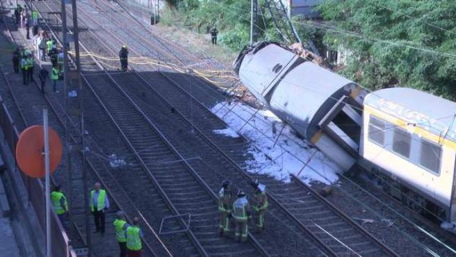 Trágico accidente de tren en O Porriño (Pontevedra)