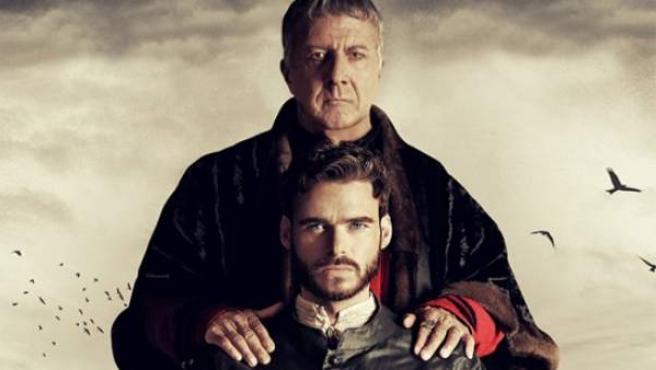 Dustin Hoffman y Richard Madden en una imagen promocional de 'Los Medici'.
