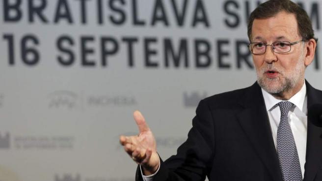 Mariano Rajoy, hablando sobre el caso de Rita Barberá.
