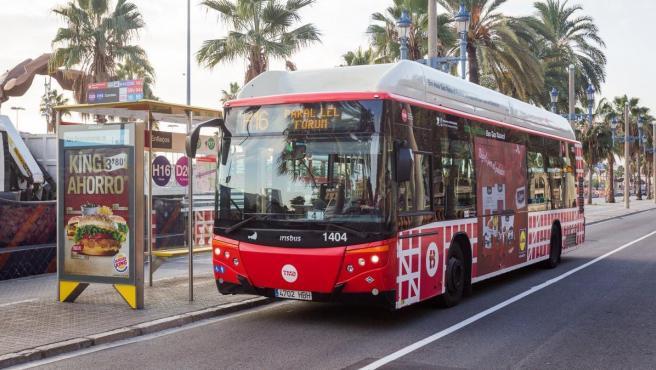 Un bus de la nueva red de Barcelona.