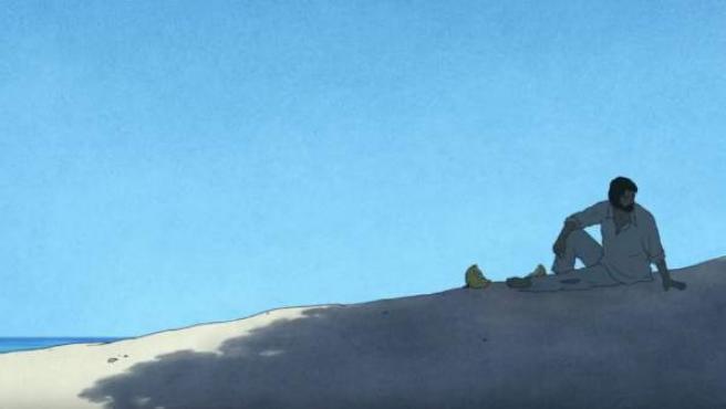 Una escena del tráiler de 'La tortuga roja', la última película del estudio Ghibli.