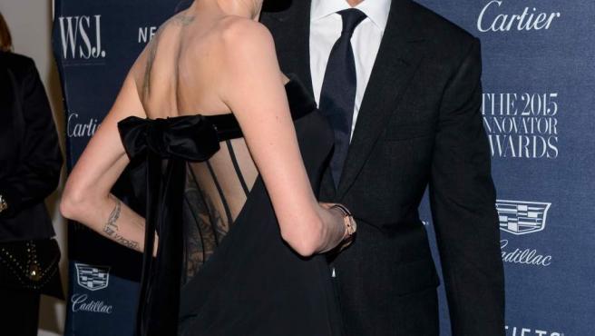 Angelina Jolie y Brad Pitt, en una gala en Nueva York en 2015.