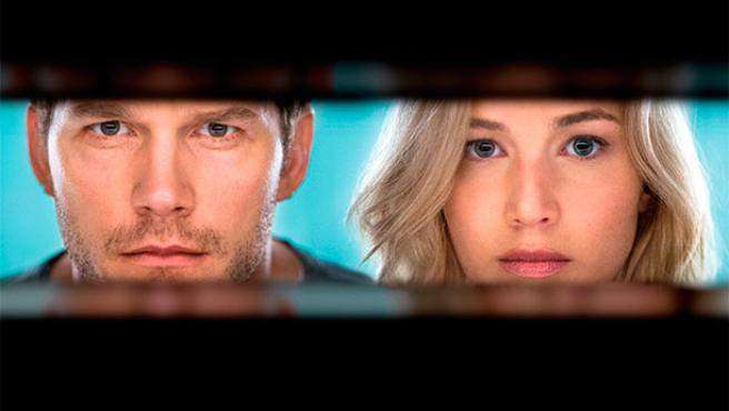 Primer 'teaser' de 'Pasajeros': El beso de Jennifer Lawrence y Chris Pratt