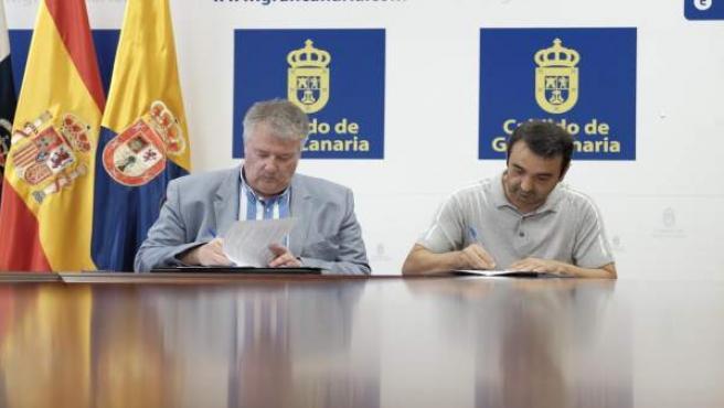 Acuerdo firmado por el Cabildo de Gran Canaria y el Comité de Huelga