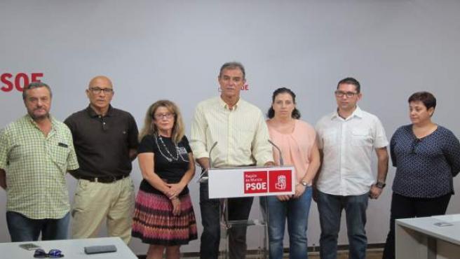 Ángel Lozano, Junto Al Resto Del Grupo Municipal Socialista