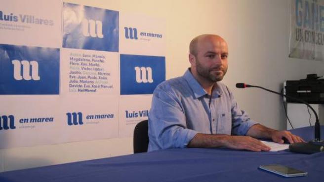Luis villares en rueda de prensa