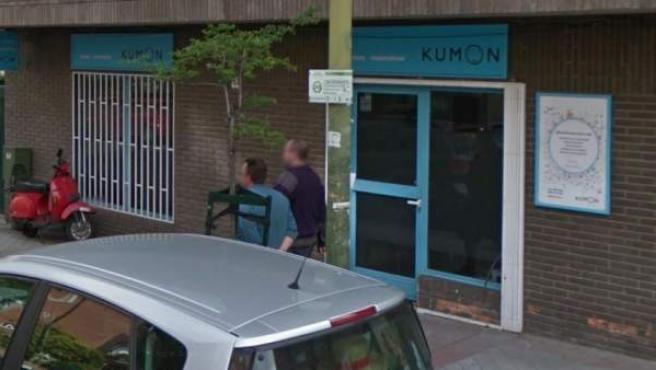 Imagen de la fachada de un centro de enseñanza Kumon en Madrid.