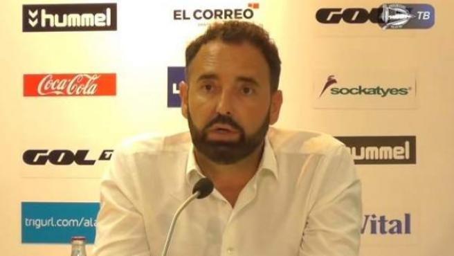 Pepe Bordalás, en rueda de prensa.