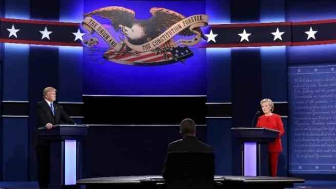 Clinton y Trump, en el debate.