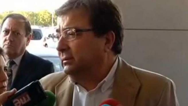 El presidente de Extremadura, Guillermo Fernández Vara, en Badajoz.