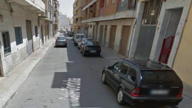 Calle Córdoba en El Ejido, Almería.