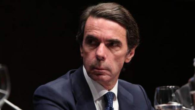 José María Aznar, en un acto.