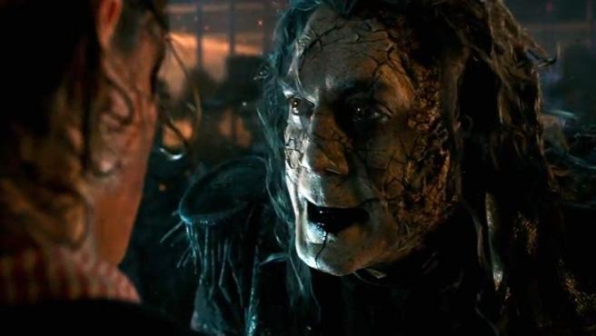 El actor Javier Bardem, en el papel de Capitán Salazar, en la última entrega de Piratas del Caribe.