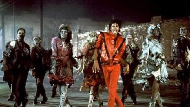 Escena del famoso videoclip de 'Thriller', de Michael Jackson.