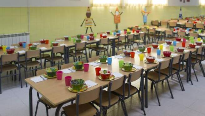 <p>Comedor de un centro escolar público de la Comunidad de Madrid.</p>