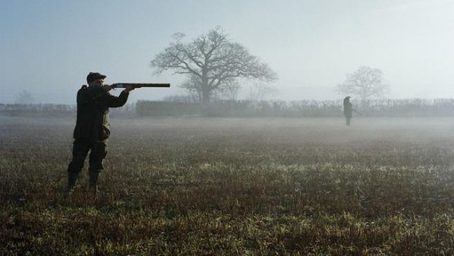 Cazadores en East Anglia, Inglaterra, en una foto de Michael Tummings