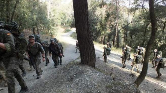 La imagen, de archivo, ha sido difundida por el propio Ejército desde sus cuentas oficiales en Twitter e Instagram.